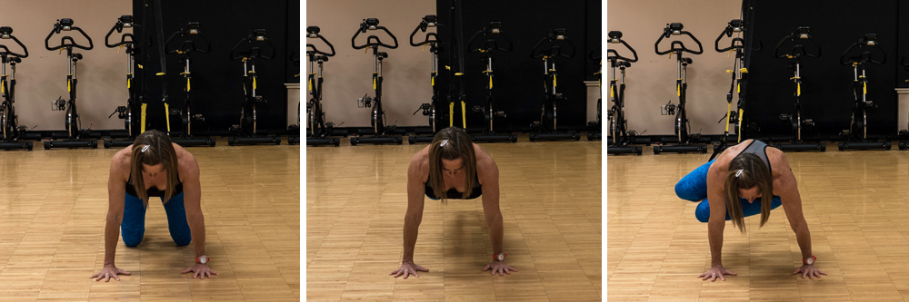 Oblique crunch to hold