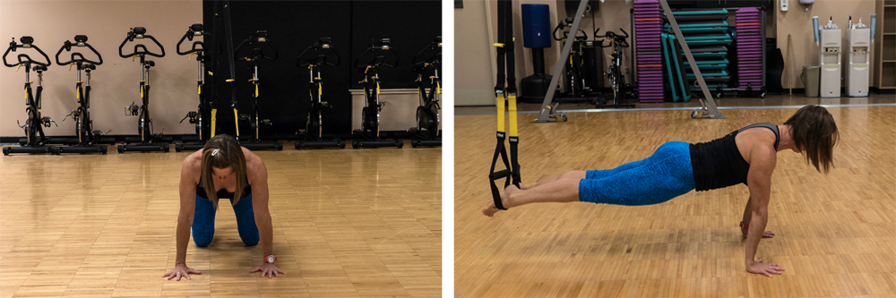 abducted plank to push-up