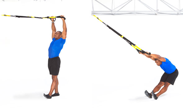 TRX Overhead Back Extension