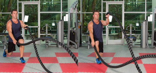 Reverse Lunge Waves