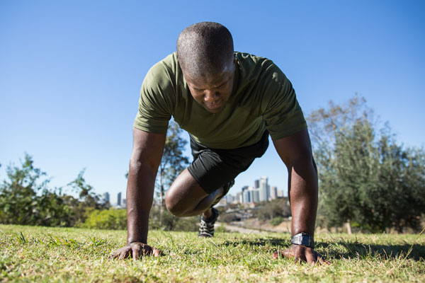 Military Boot Camp-inspired Plank Workout