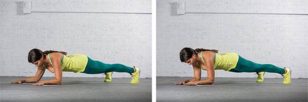 frontal forearm plank