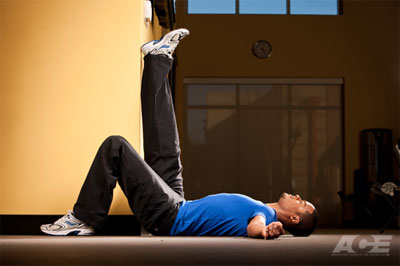 Supine (lying) hamstrings stretch