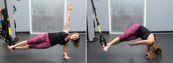 Core Combos Using the TRX Suspension Trainer and Ultimate Sandbags