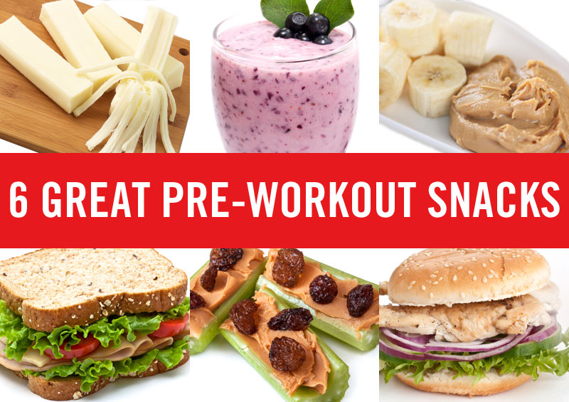 6 Great Pre-workout Snacks