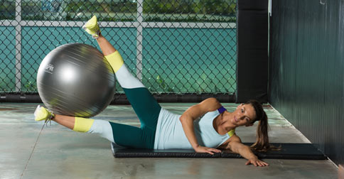 Core-strengthening Stability Ball Workout