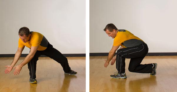 lunge with reach