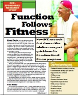 Function Follows Fitness