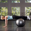 Stability Ball Prone Walkout