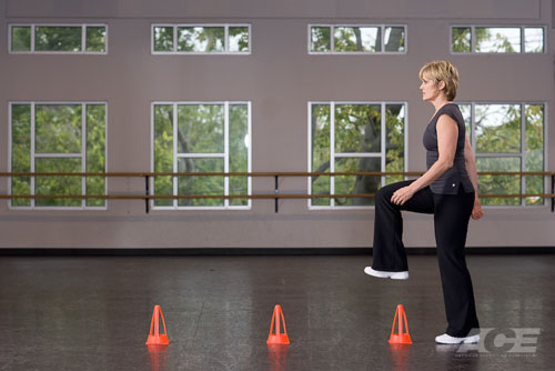 Ace Fit Ab Exercises Forward Stepping Over Cones