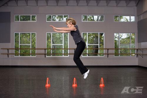 ace fit upper leg exercises forward cone jumps. Black Bedroom Furniture Sets. Home Design Ideas