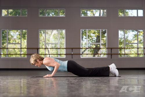 ace fit ab exercises bent knee push up. Black Bedroom Furniture Sets. Home Design Ideas