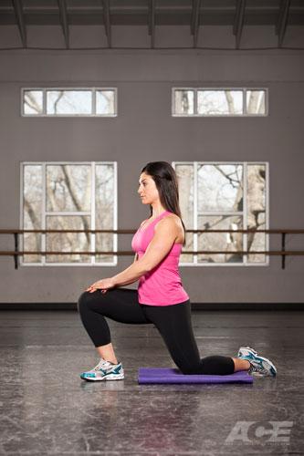 ace fit upper leg exercises kneeling hip flexor stretch. Black Bedroom Furniture Sets. Home Design Ideas