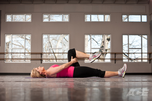 Ace Fit Search Results Supine Hip Flexor Stretch
