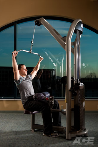ace fit back exercises seated lat pulldown. Black Bedroom Furniture Sets. Home Design Ideas