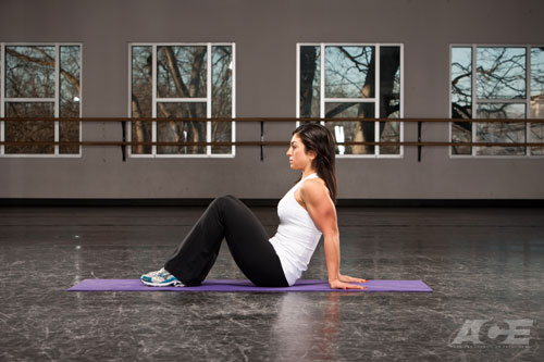 Arm Exercises | Seated Bent-Knee Biceps Stretch