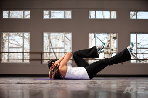 Ab Exercises Supine Bicycle Crunches