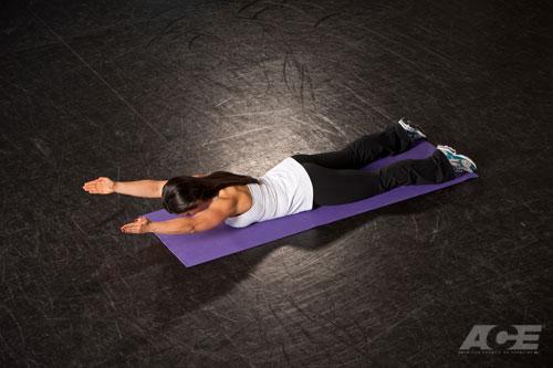 ACE Fit   Back Exercises   Prone Scapular (Shoulder ...
