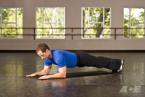 Ace Fit Ab Exercises Front Plank