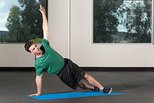 Shoulders High Plank T-Spine Rotation
