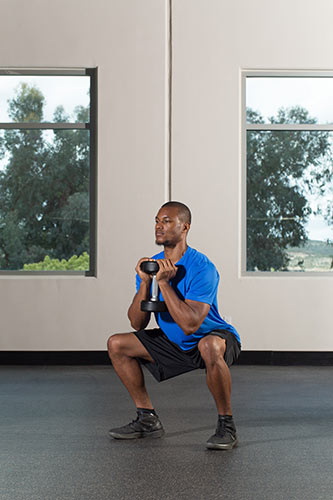 how to keep a straight back for goblet squat