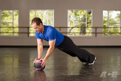Ab Exercises | Medicine Ball Push-ups