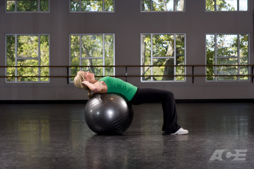 ACE Fit   Ab Exercises   Stability Ball Sit-ups / Crunches