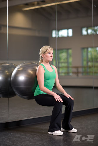 Butt & Hip Exercises | Stability Ball Wall Squats