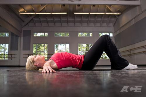 Ab Exercises   Supine Pelvic Tilts