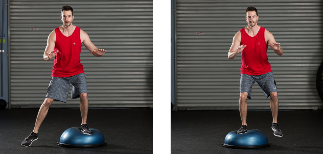 7 Basic BOSU Balance Exercises | Elizabeth Kovar | Expert Articles | 2/3/2016