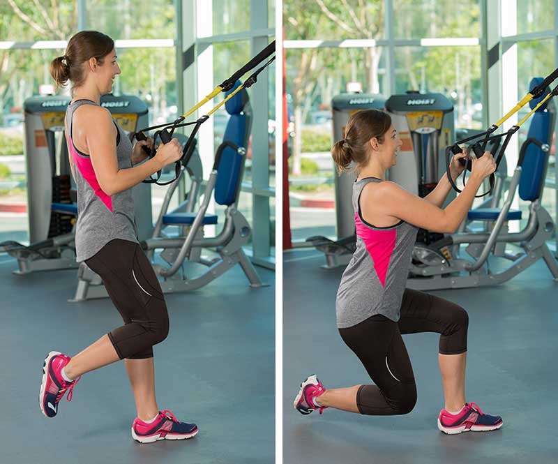 TRX Crossing Lunge