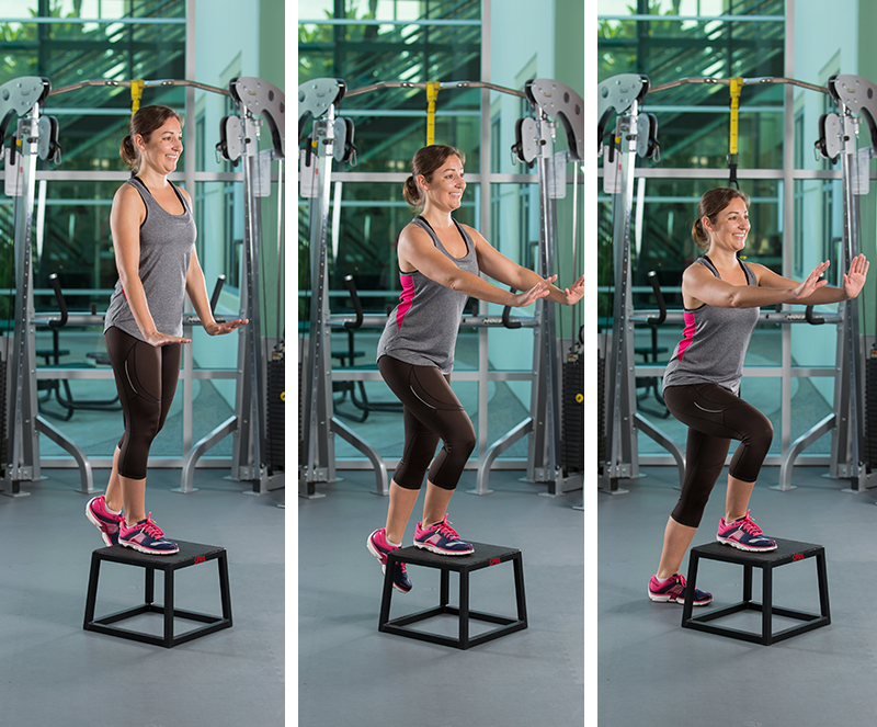 Eccentric Step Down With Body Weight Only