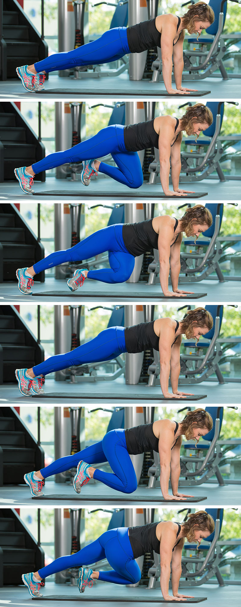 Hip Rotations (Push-up Position)