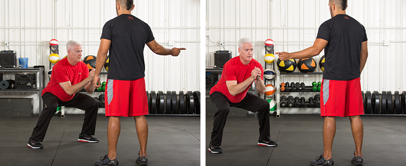 Reaction Side Squats