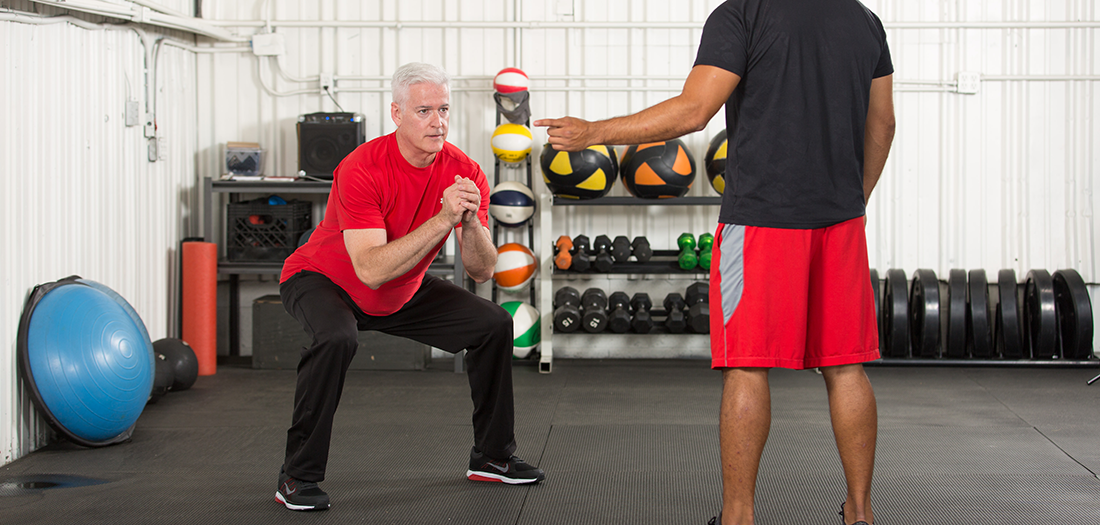 Coordination exercises for active aging clients