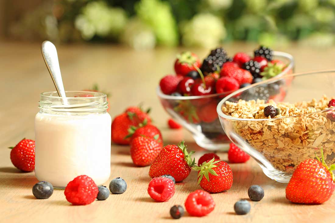 Greek Yogurt with Granola Bar