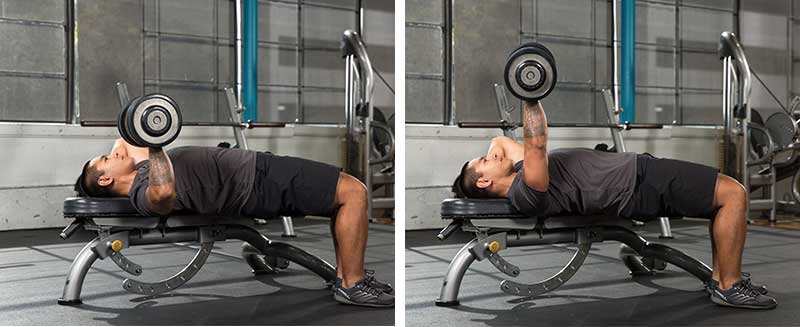 Offset One-Arm Dumbbell Chest Press