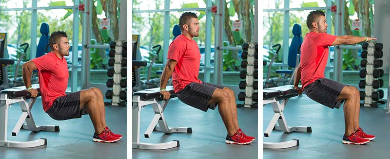 Bench Dips With Rotation