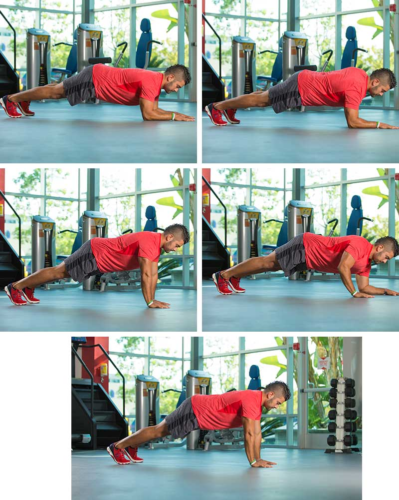 4-count Plank-ups
