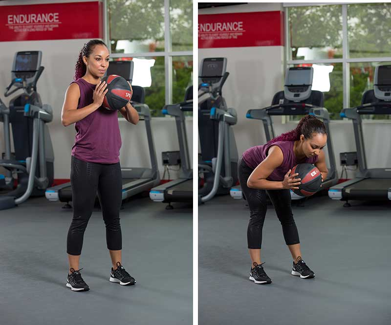 Hip Hinge with Medicine Ball