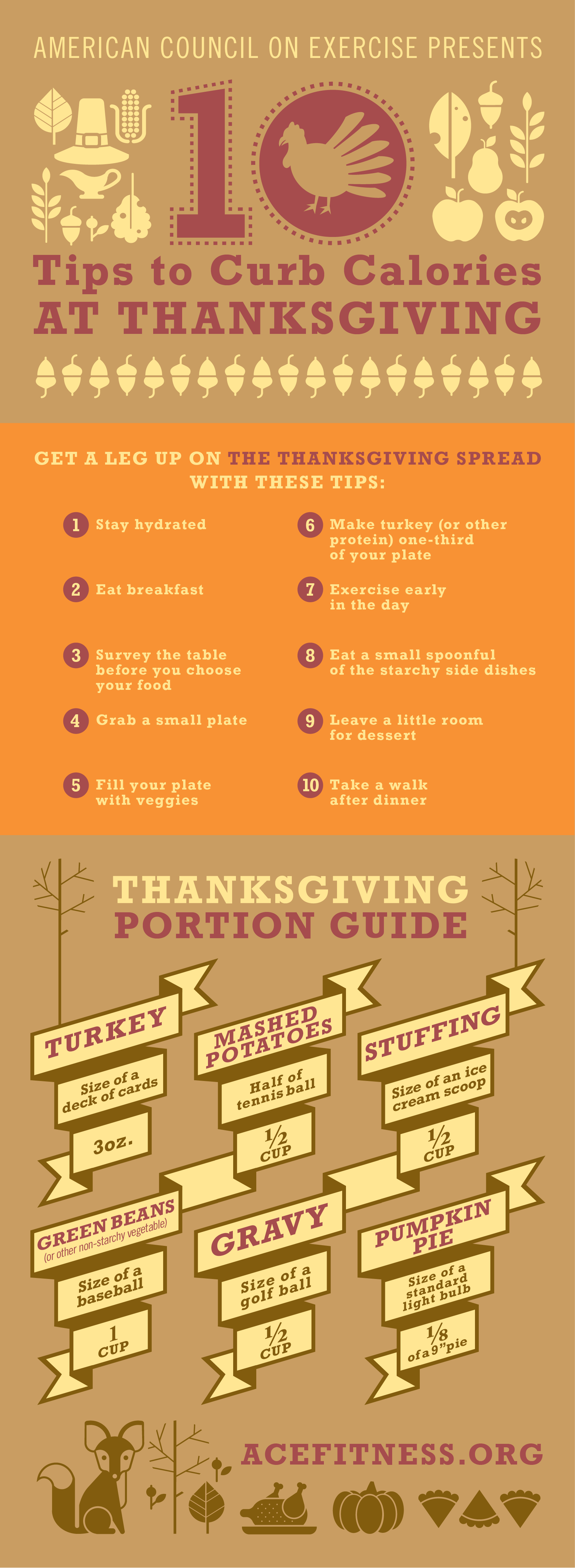 Thanksgiving Portion Guide Infographic