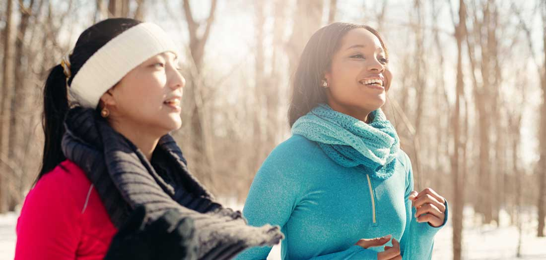 get a companion for cold weather exercise