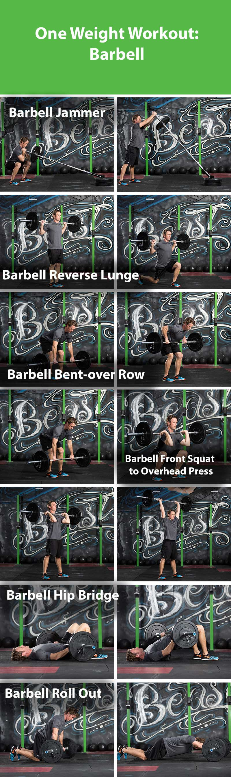 One weight workout- barbell