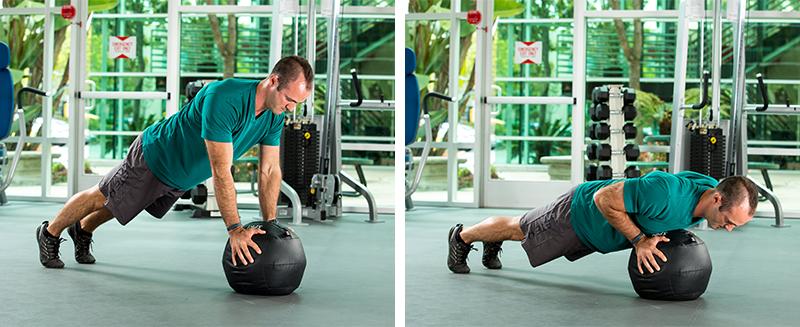 medicine-ball-pushups