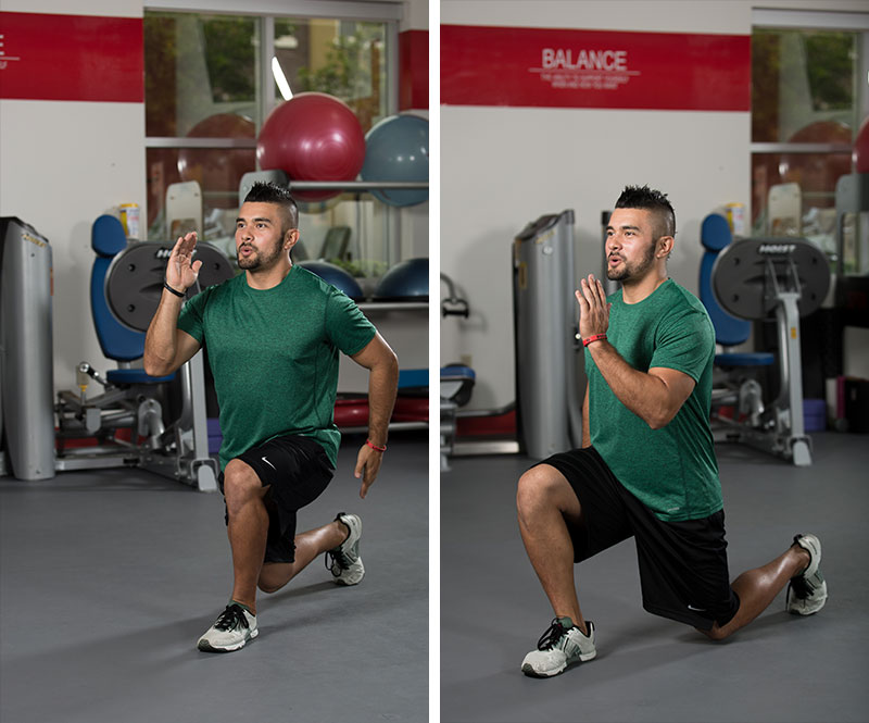 Reverse to Forward Lunge