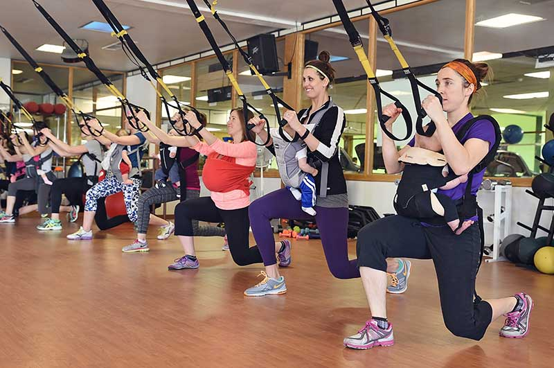 TRX Baby-assisted Lunge