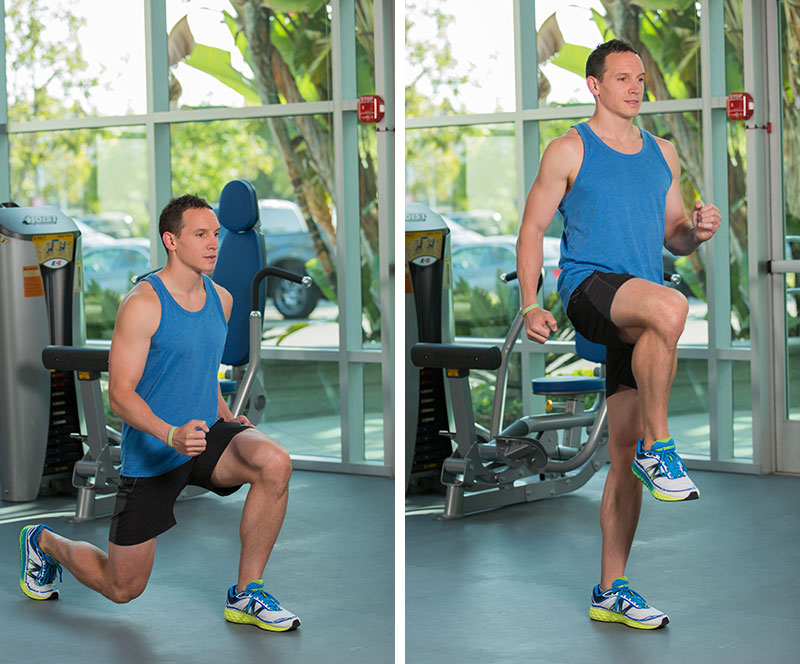 Reverse lunge to balance
