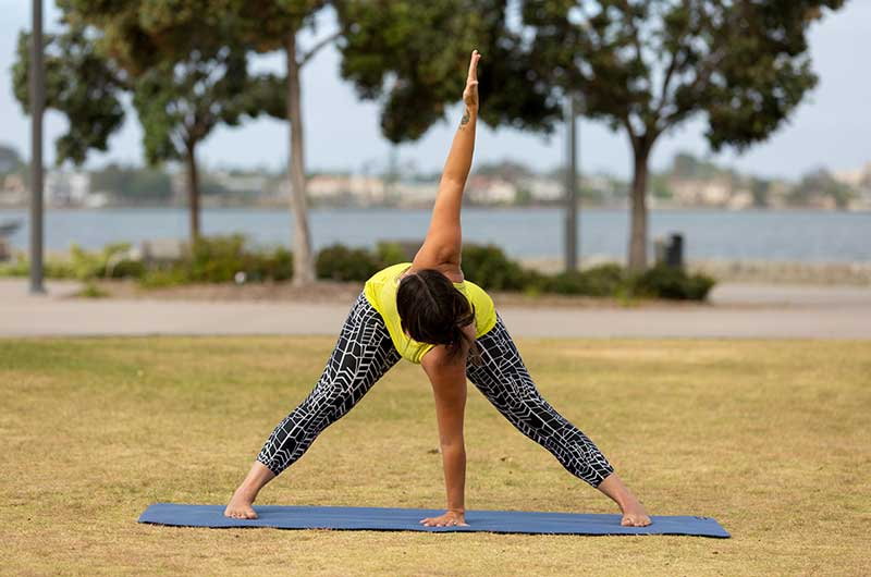 Standing Wide-legged Forward Bend With Twist