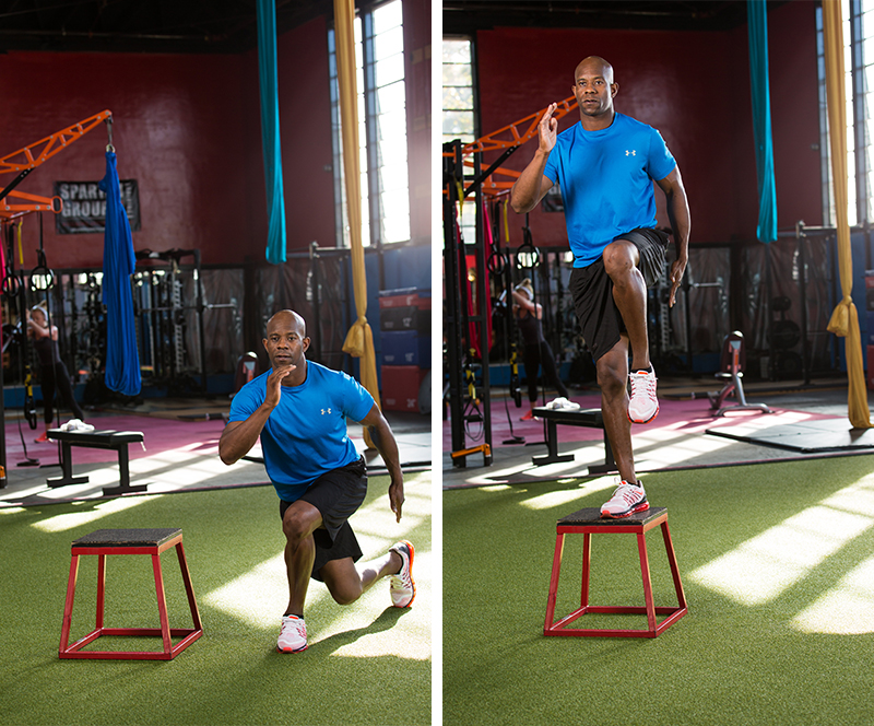 Lateral Step-ups to Crossing Lunge