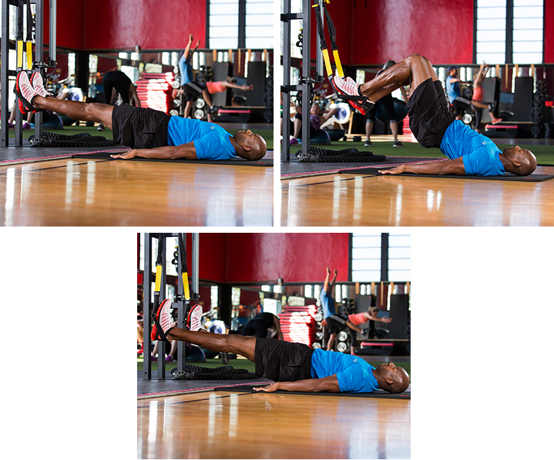 TRX Hamstring Curls to Abducted Legs